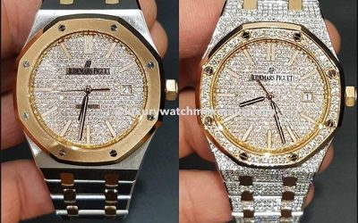 Two-Tone Audemars Piguet after a diamond set
