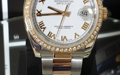 Complete service on ladies two-tone Rolex DateJust
