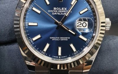 Overhaul on Rolex DateJust with blue dial